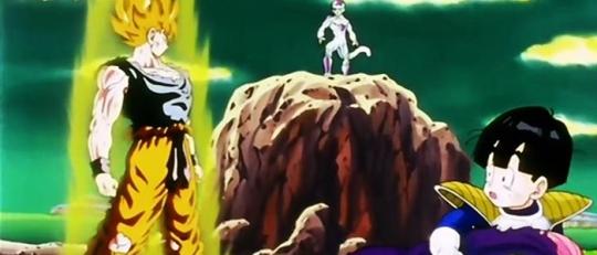 L'un des moments les plus marquants de la série: La première transformation de Sangoku en super guerrier